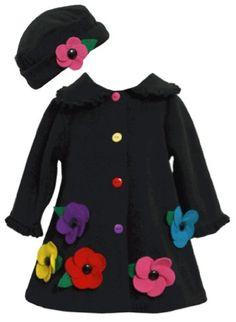 Black Multicolor Flower Applique Fleece Coat / Hat Set BK0SI,Bonnie Jean Baby-Newborn Special Occasion Outerwear Coat Bonnie Jean,http://www.amazon.com/dp/B00EDZYG30/ref=cm_sw_r_pi_dp_Z5hbsb0ZN4759RK2