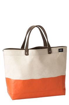 'Industrial Dipped Coal' Canvas Bag...but could also be cute if you made it yourself