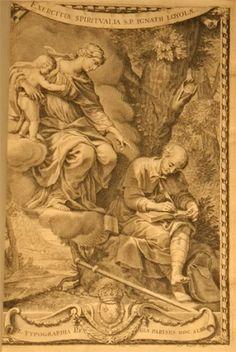 San Ignacio de Loyola en la cueva de Manresa