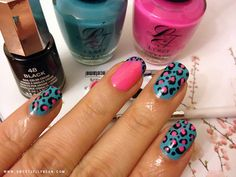 My First Leopard Print Nails! #nailart #pretty #nails - bellashoot.com