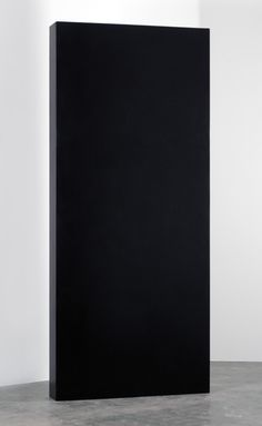 """Weeping Monolith  -A re-creation of the monolith from 2001: A Space Odyssey only it weeps continuously  foam, resin, metal, plastic, and water  120"""" x 52"""" x 10"""""""