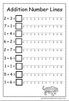 Free number line addition worksheets…
