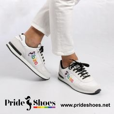 Ibiza Pride Shoes. Made in Spain. LGBT IBIZA trainers. Best sneakers to show your Pride in the white island.