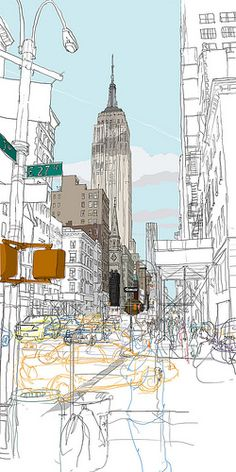 New York_Empire state building 100x50cm