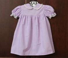 Vintage Lavender and Lace Toddler Dress size 3T by schatzli