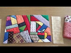 Sewing a cover for a composition book journal -- voice over is in Spanish but the directions are still clear - - - Video 1 - Capa de Caderno em Patchwork
