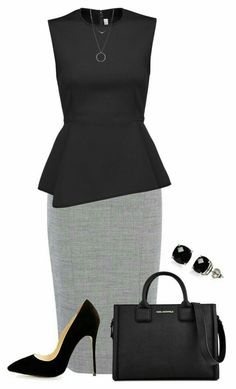 Pencil skirt and top chic work outfit Office Fashion, Business Fashion, Work Fashion, Fashion Outfits, Womens Fashion, Business Casual Outfits, Classy Outfits, Work Outfits, Professional Outfits