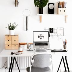 Home office decor is a very important thing that you have to make percfectly in your house. You need to make your home office decor ideas become a very awe Home Office Design, Home Office Decor, Home Decor, Office Ideas, Office Inspo, Office Setup, Office Designs, Office Shelf, Office Chic
