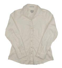 Foxcroft Womens Dress Shirt Wrinkle Free Casual Work Solid White Size Medium #Foxcroft #DressShirts #CasualCareer