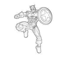 Powerful Captain America Coloring Pages. In March one of the first comic-strip superheroes and one of the longest-lived: Captain America arrived on newsst Captain America Coloring Pages, Avengers Coloring Pages, Superhero Coloring Pages, Lego Coloring Pages, Marvel Coloring, Cat Coloring Page, Coloring Pages To Print, Printable Coloring Pages, Coloring Pages For Kids