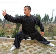 Bruce Lee Brodé Arts martiaux Wushu Kungfu Rouge Tee T-shirt en réalité