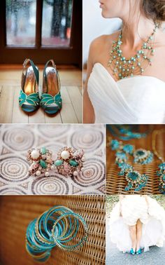 Coral Bridesmaid Dresses With Turquoise Jewelry. Coral and Turquoise Wedding Inspiration definitely my wedding colors! My bridesmaids will look just Gold Wedding Theme, Peacock Wedding, Blue Wedding, Wedding Colors, Wedding Styles, Wedding Ideas, Wedding Stuff, Dream Wedding, Wedding Inspiration
