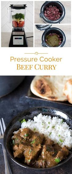 A simple, not-too-spicy pressure cooker beef curry made with fresh ingredients you probably already have on hand. See how easy Indian food is easy to make at home.