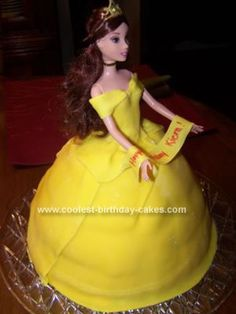 Cynthia, this one is kind of cute!   Made with real Belle barbie doll!