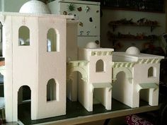Diy Nativity, Christmas Nativity, Cardboard Box Houses, Paper Mache Crafts, Stone Texture, Miniature Houses, Tabletop Games, Diy Dollhouse, Fairy Houses