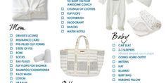 Baby hospital bag checklist