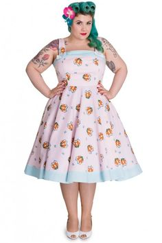$80 shipped. 4x, bought NWT, washed, but necer worn. Hell Bunny Retro 50s Foxy Dress Pink Plus Size - Retro en Vintage kleding online | Looks Like Vintage
