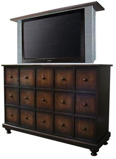 Hidden TV for Master  Apothecary - TV Lift Cabinet from The Wood Extension