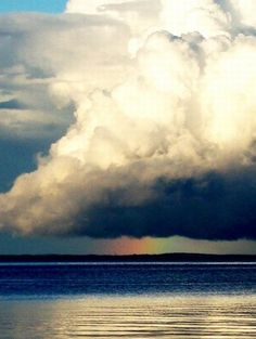 nimbus cloud #sky #rainbow