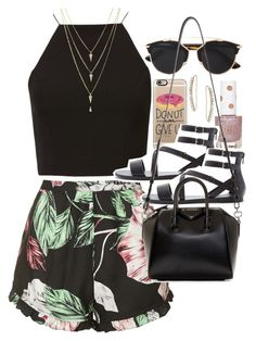 """""""Outfit for a festival"""" by ferned ❤ liked on Polyvore featuring Topshop, Casetify, Forever 21, Christian Dior and Givenchy"""