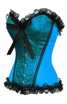 The Violet Vixen - Pinup Doll Sky Blue Corset, $99.00 (http://thevioletvixen.com/corsets/pinup-doll-sky-blue-corset/) authentic steel boned satin lace pinup sweetheart independence day picnic barbecue