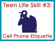 Does your teen have a mobile phone?  Here are some handy tips on cell phone etiquette.