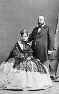 Maria Theresa of Austria-Este(1817–1886), with her husband Henri, comte de Chambord.