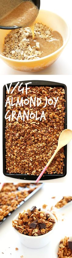 SALTY-SWEET and HEALTHY Almond Joy Granola! 9 ingredients, 30 minutes #vegan #glutenfree