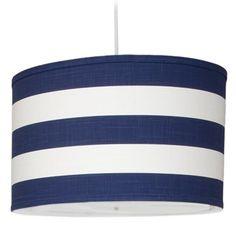 Oilo Stripe Large Cylinder Light - Cobalt Blue