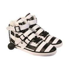 Check out the all new Radii Straight Jacket VLC White Black Stripes Mens High Top Sneakers Men's High Top Sneakers, Mens High Tops, Straight Jacket, Brogues, Black Stripes, Fashion Shoes, Baby Shoes, Footwear, Sandals