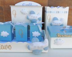 Kit Higiene Maternidade Nuvens Menino