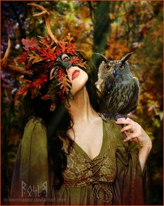 Mabon priestess of the fall equinox Mabon, Samhain, Wicca, Magick, Witchcraft, Foto Fantasy, Fantasy Art, Fantasy Forest, Fantasy Paintings