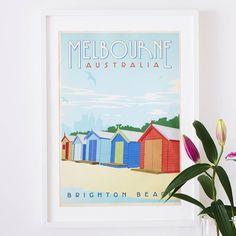 'Melbourne Australia' Travel Poster from notonthehighstreet.com