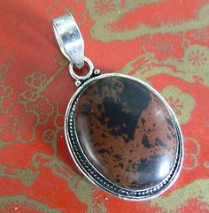 Vintage  brown  jasper  pendant | BellaWorxJewelry - Jewelry on ArtFire