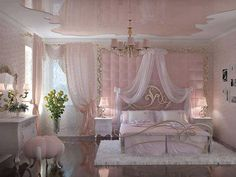 Home Decorating Style 2016 for Light Pink Bedroom Ideas, you can see Light Pink Bedroom Ideas and more pictures for Home Interior Decorating Style 2016 14176 at Beautiful Pink Decoration. Princess Bedrooms, Pink Bedrooms, Shabby Chic Bedrooms, Girls Bedroom, Bedroom Decor, Bedroom Ideas, Romantic Bedrooms, Bedroom Table, Small Bedrooms