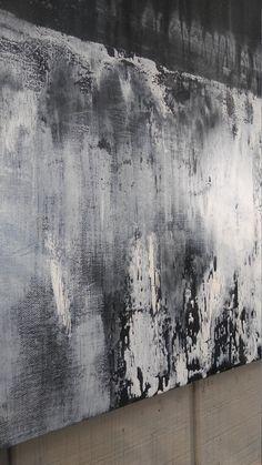 Original Minimalist Texture Painting Black by AmyNealArtStudio