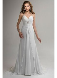 What a beautiful dress- simple and elegant