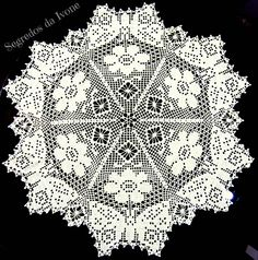NA4- Naperon em crochet para mesa Crochet Doilies, Cross Stitch, Butterfly, Bling, Lace, Farmhouse Rugs, Crochet Tutorials, Sewing Nook, Scrappy Quilts