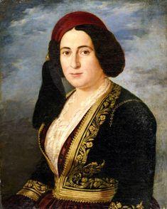 Greek Beauty, 19th Century, Mona Lisa, Artwork, Painting, Dress, Fashion, Women, Pintura