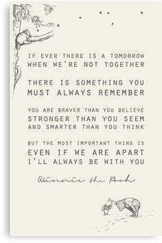 Winnie the Pooh als inspiratie voor de rouwkaart | Vind meer inspiratie over het afscheid en de uitvaart van een kind op http://www.rememberme.nl