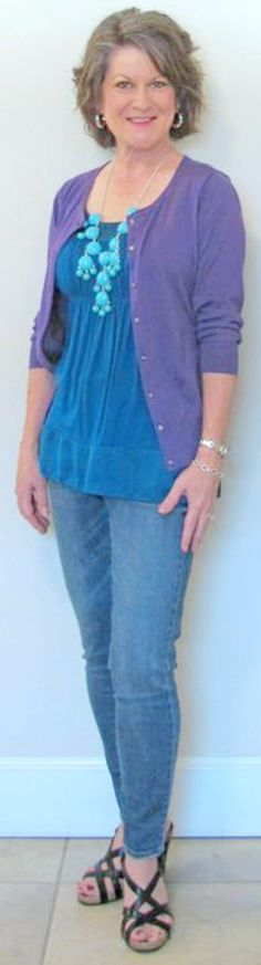 I like the flowy top. casual clothes for women over 50