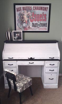 Most Popular Vintage Roll Top Desk Furniture Ideas Diy Furniture Fix, Home Office Furniture Design, Home Office Decor, Furniture Ideas, Office Ideas, Home Decor, Refinished Furniture, Office Designs, Desk Ideas