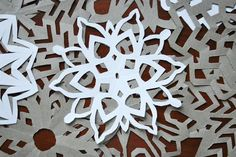 DIY Paper SnowFlakes // Fine and Feathered