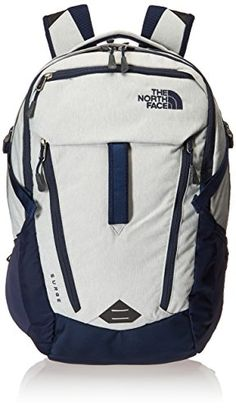 Surge #Backpack, HIGH RISE GREY / COSMIC BLUE The North Face