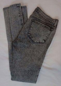J Brand Xray gray acid wash denim pencil leg skinny jeans SZ 29 L35 #JBrand #SlimSkinny
