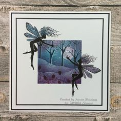 Lavinia Stamps Cards, Homemade Birthday Cards, So Creative, Watercolor Brushes, Card Tags, Cardmaking, Paper Art, Greeting Cards, Fairy