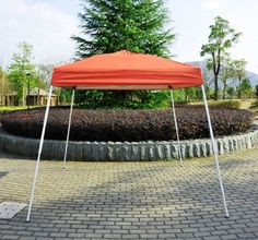 BONUS!!! Outsunny 8′ x 8′ Slant Leg Easy Pop-Up Canopy Party Tent – Rust Red – $42.97