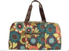 Vera Bradley COLLAPSIBLE DUFFEL Bag ~ New FLOWER SHOWER Pattern ~ New/NWT #VeraBradley #ShoulderBag