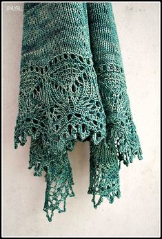 Cladonia shawl by Kirsten Kapur, pattern available on Ravelry. Knit Or Crochet, Lace Knitting, Crochet Shawl, Knitting Stitches, Knitting Patterns, Crochet Patterns, Crochet Vests, Crochet Cape, Crochet Edgings