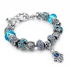 Bracelet style pandora avec charmes